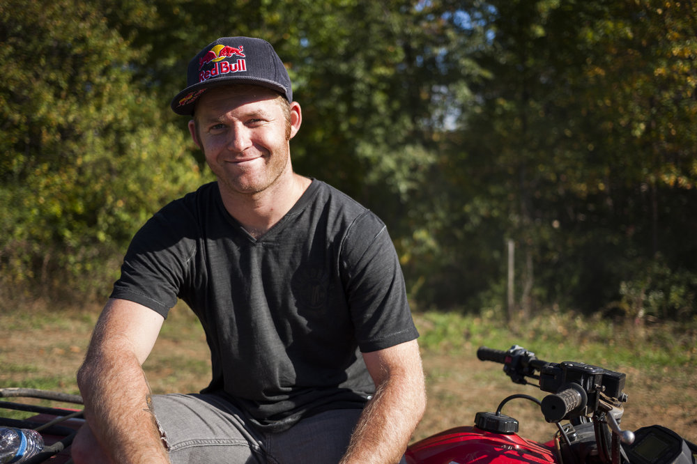 "Mike ""Hucker"" Clark poses for a quick portrait at Red Bull Trail Loop, in Fogelsville, PA, USA, on 15 October, 2013."